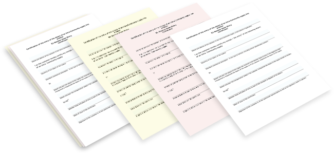 ncr order or invoice pads in four different versions printing