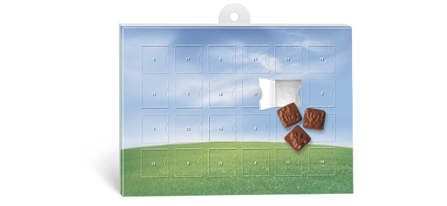 Christmas chocolate advent calendars custom printing