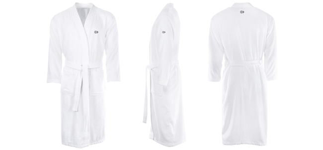 hotel and wellness club bathrobes embroidered motif