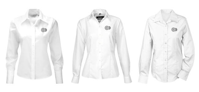 employees blouses embroidered for your female employees