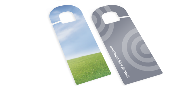 hotel and private door printed hangers also cars mirror promotional hangers custom printing