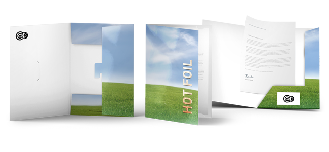 folders printing of advertising agency, office or doctor