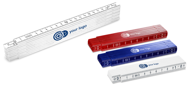 custom printed folding rulers create your own motif and logos
