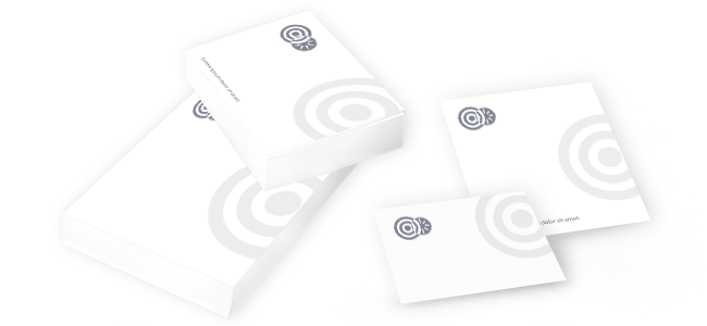 sticky notes pads design and print logo