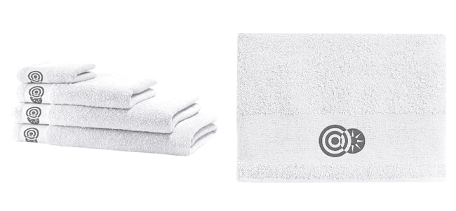 towels embroidered with your slogan or logo thus make a practical thank-you gift for your staff, customers or club members.
