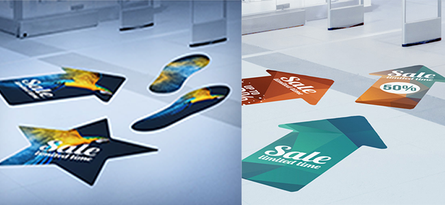 advertising floor posters stickers retail outlets custom design printing