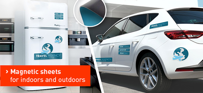 vehicle and fridge magnetic sheets design and printing