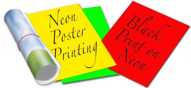 neon posters high quality printing