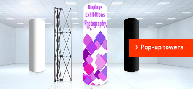 exhibition panel custom design and printing pop up tower